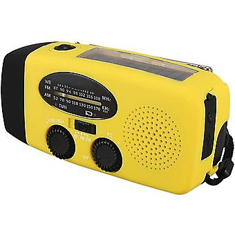 Emergency Portable Am Fm Radio Power Bank, Käsikampi Itsekäyttöinen Aurinkoradiot