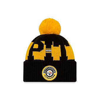 New Era Nfl Pittsburgh Steelers Officiële 2020 Sideline Home Sport Knit