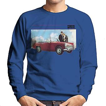 Austin Healey Sprite Mark IV Admired By Couple British Motor Heritage Men's Sweatshirt