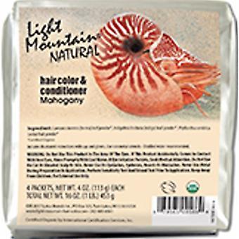 Light Mountain Natural Hair Color & Conditioner, Mahogany 16 Oz