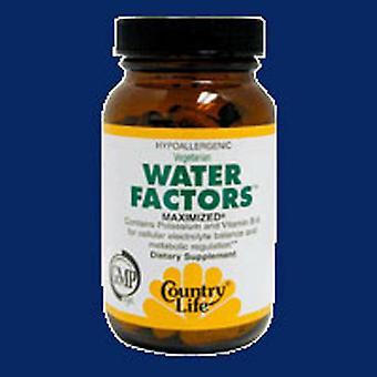 Country Life Water Factoren (voorheen bekend als diuretische factoren), 60 tabbladen