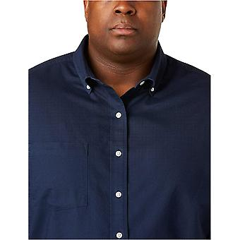 Essentials Men's Big & Tall Lyhythihainen Pocket Oxford Shirt fit-käyttövoimana DXL, Navy, 2XL