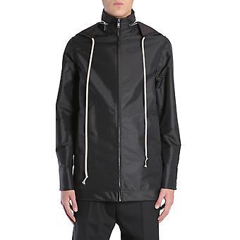 Rick Owens Rr18s5711cvt09 Men's Black Nylon Outerwear Jacket