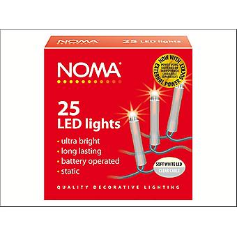 Noma LED Lights x 25 Clear / Soft White 1205CSW