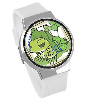 Vodotesné svetelné LED Digitálne Touch Detské hodinky - Cestovanie žaba #13
