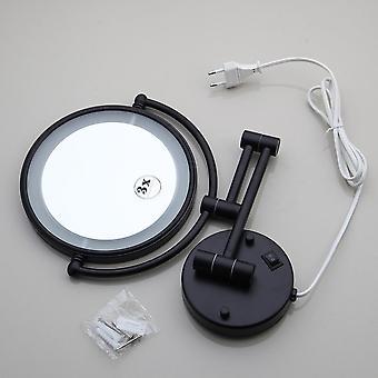 LED , ウォールマウント , 拡張可能, 折りたたみ可能 , 3x のダブルサイドメイクアップミラー