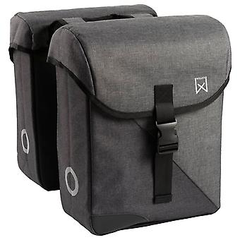 Willex Double Bicycle Bag 800 Grey and Black 33 L