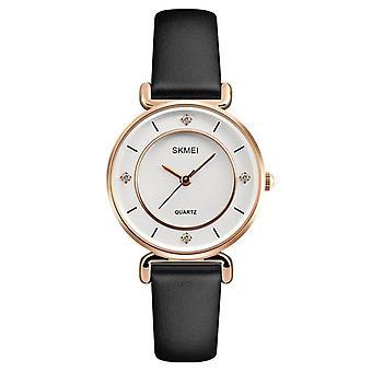 SKMEI 1330 Casual Style damer titta på äkta läder rem kvarts handleden klocka