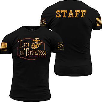 Grunt Style USMC - Tun Tavern Staff T-Shirt - Noir