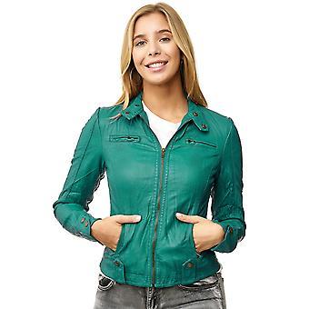 Кожаные куртка байкер куртка искусственной кожи Пу пиджак короткий переход