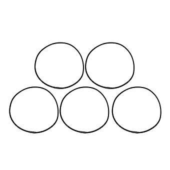 Grote ronde elastische band zwart voor audiomicrofoon schok mount set van 5