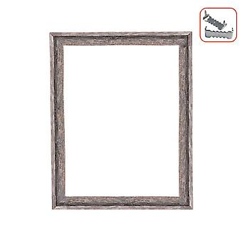 18x24 Weathered Grey Picture Frame with Sawtooth Hangers