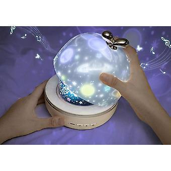 Musiikki projektorin yövalo bt-kaiuttimen latautettavalla universumilampulla