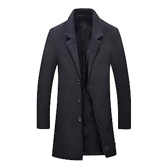 Autumn/winter Trench Clothing Cool Mens Long  Cotton Overcoat