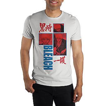 Bleach graphic artwork crew neck short sleeve t shirt