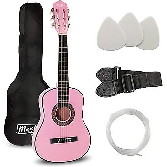 Music Alley MA-51 Classical Acoustic Guitar Kids Guitar and Junior Guitar Pink