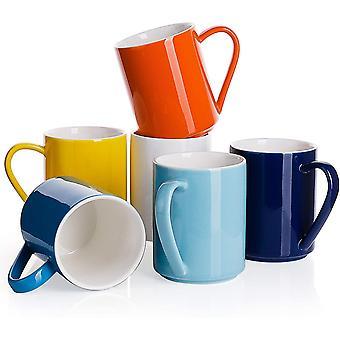 Sweese 603.002 Porcelain Coffee Mug Set - 350 ml for Cappuccino, Latte, Tea