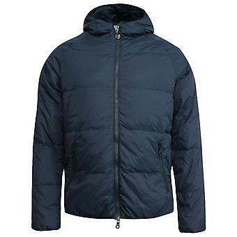Onitsuka Tiger Mens Hooded Down Padded Winter Coat Navy OKJ337 0053 Y26A