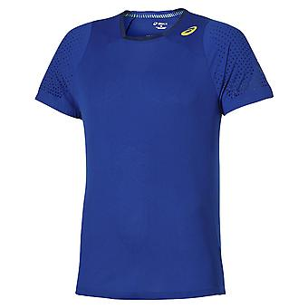 Asics Mens Athlete Cooling T-Shirt Gym Running Training Top Blue 130339 8107
