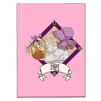 Holly Hobbie With A Basket Of Fruit And Flowers Hardback Journal