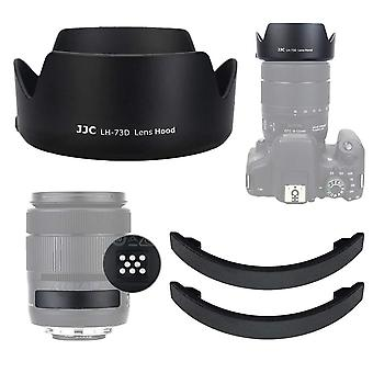 Jjc dedicated reversible lens hood with lens contacts protector cover cap for canon 18-135mm f3.5-5.