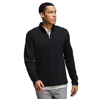 adidas Golf Mens 2021 3-Stripe 1/4 Zip Layering Soft Stretch Mid-Weight Sweater