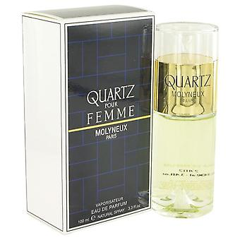 Quartz Eau De Parfum Spray By Molyneux 3.4 oz Eau De Parfum Spray