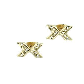 Skagen kvinders øreringe skinnende lys guld JEG0015