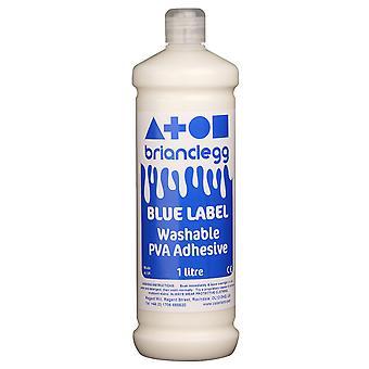 Brian Clegg Blue Label Washable PVA Glue 1 Litre