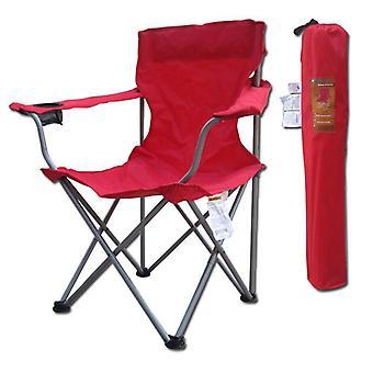 Outdoor Klappstuhl Stahl Chaise Oxford Fiber Sessel mit Cup Halter
