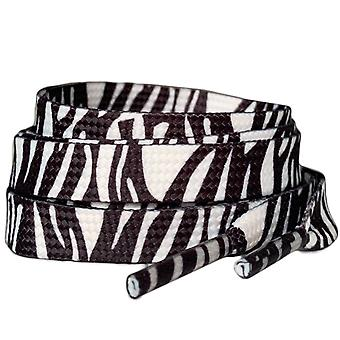 Zebra Print Flat Trainer Shoelaces Laces