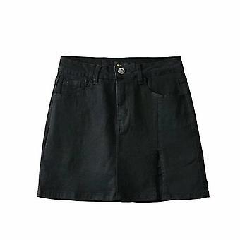 Women High Waist Denim Skirt