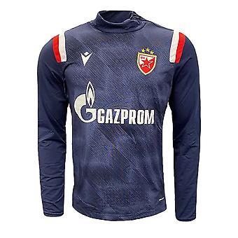 2020-2021 Red Star Belgrade Half Zip Training Top (Navy)