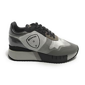 Shoes Blauer Sneaker Running Mod. Myrtle Ecopelle/ Mesh Grey D21bu01