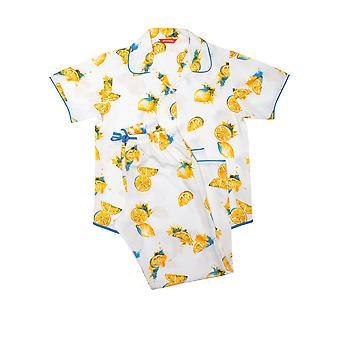 Minijammies Phoebe 5709 Girl's White Lemon Modal Pyjama Set