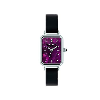 Lola Rose Lr2157 Purple Dial Leather Strap Watch For Women