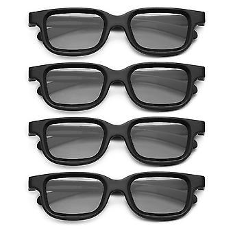4pcs/los Polarisierte passive 3d Brille für 3d TV Real 3d Kinos