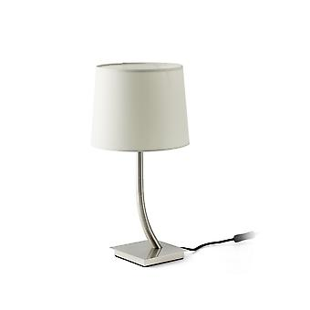 Table Lamp Round Tapered White, E27
