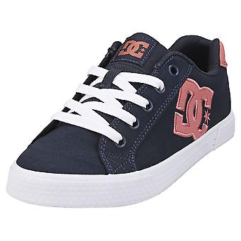 DC Shoes Chelsea Womens Fashion Trainers in Blue Pink