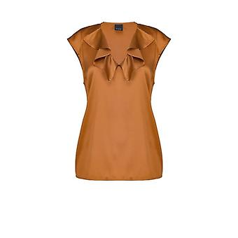 Pinko Fascinoso Satin Rust Top