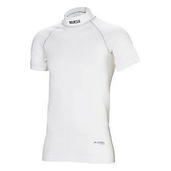 Heren Thermisch T-shirt Sparco RW9 Korte slang Wit (Maat XL/XXL)