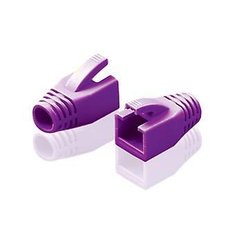 10kpl Alogic Rj45 Violetti rasituksen helpotus boot