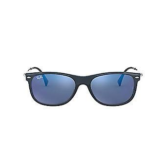 Ray-Ban 0RB4318 Aurinkolasit, Sininen (Läpinäkyvä sininen), 55 Unisex-aikuinen