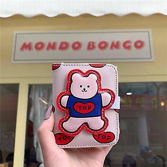 Bentoy Milkjoy Japani Kawaii Söpö Pu Lompakot Bear Animal Wallet Kolikko Kukkaro Sisään