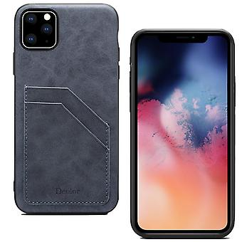 Leather wallet card slot case for iphone xs max gray no4942