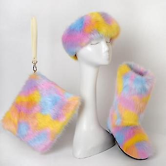 Winter Women Fox Fur Snow Boots