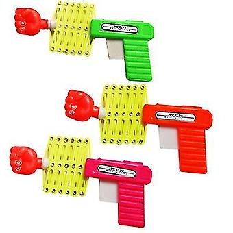 2Pcs 3pcs telescopic fist gun spring elastic gun children's toy magic toy gun 3pcs az22310