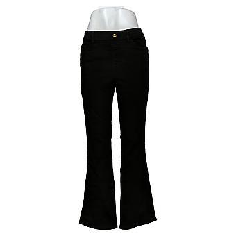 إيمان العالمية شيك المرأة جينز جينز سحب على Bootcut الأسود 734928001