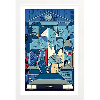 JUNIQE Print - Terug naar de toekomst - Movies Poster in Blue