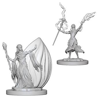 D&D Nolzurs underbara omålade miniatyrer (W3) Elf Female Wizard